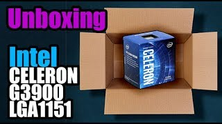 Unboxing Intel Celeron G3900 - Droga Digital