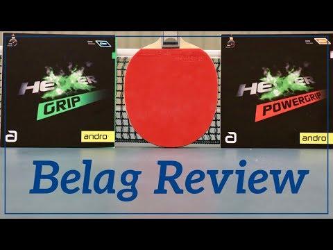 Tischtennis Belag Test: Hexer Grip vs. Powergrip