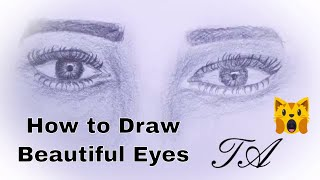 How to Draw Beautiful Eyes | Easy & Step by Step Guide
