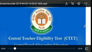CTET exam admit card 2019 kaise karna hai download