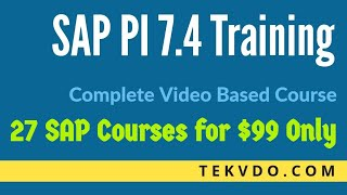 SAP PI Training - Enterprise Services Repository - Complete Course