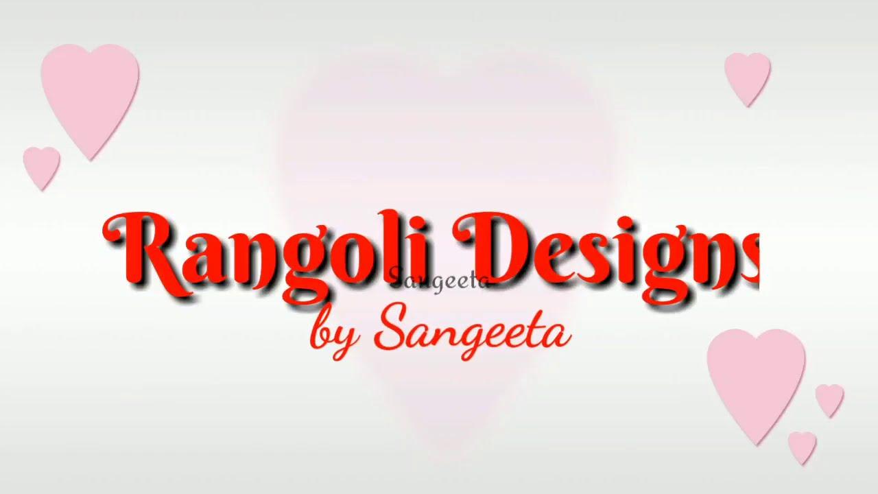lotus flower rangoli design for vasant panchami by sangeeta