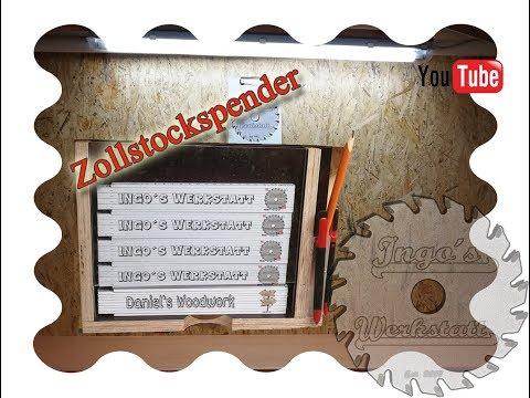 Der Gliedermaß-/Zollstock Spender mit Stifthalter