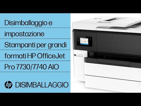 Disimballaggio e configurazione della stampante HP OfficeJet Pro 7740