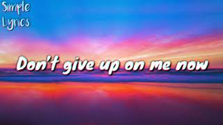 Don't Give Up On Me Now   R3hab & Julie Bergan (Lyric Video)