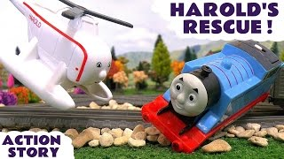 Thomas and Friends Accident Harold's Rescue with Minions and Avengers Thor Toy Train Story