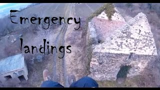 Emergency Landings   Paragliding FailsWins And Crashes