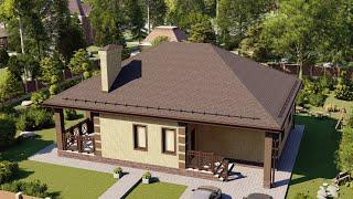 Проект дома 130-А, Площадь дома: 130 м2, Размер дома:  11,5х11 м