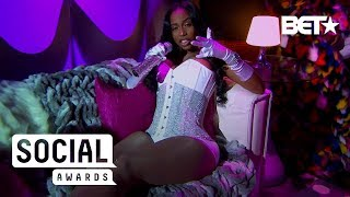 Kash Doll Gives Cookie Lyon Realness In Floor-Length Fur | BET Social Awards