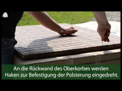 """Aufbau eines Strandkorbes (deVries """"PURE Comfort XL Teak"""")"""