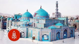 Afghanistan's Blue Mosque Is Surrounded by White Doves