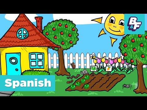 Learn Spanish STEM vocabulary in the garden with BASHO & FRIENDS - El Jardín