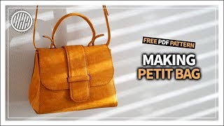 [Leather Craft] Making Petit Bag / Tutorial / Free pattern