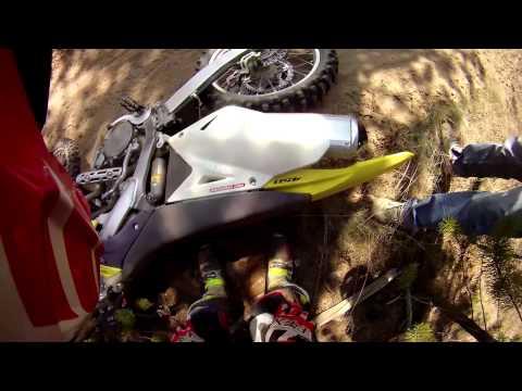 Dirt Bike Head on Collision with Quad