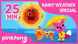 Rain rain Go Away and more | Rainy Day Special | +Compilation | Pinkfong Songs for Children