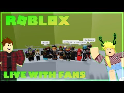 Roblox Live I Playing Your Games I Playing with Fans