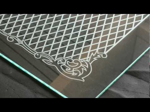 Glass door gravure | Laser engraving