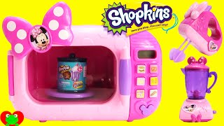 Minnie Mouse Marvelous Microwave with Shopkins Season 4 Food Fair Candy Jar