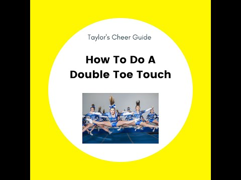 Tutorial for how to do a double toe touch!