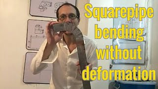 How to bend a metal square pipe without deformation  (PART 2)