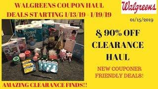 Walgreens Coupon Haul Deals Starting 1/13/19~Walgreens 90% Off Clearance Haul~Amazing Easy Deals ❤️