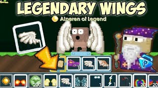 Road To Legendary Wings Part 2 !! ( Used 300++ Rip Gems ) | GrowTopia