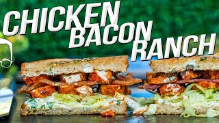 THE BEST SANDWICH I'VE EVER MADE - (SPICY!) CHICKEN BACON RANCH   SAM THE COOKING GUY 4K