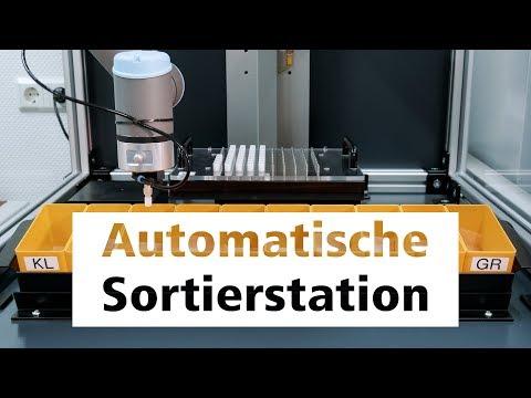 Automatische Sortierstation – Automatisierungslösung von Schneider Messtechnik