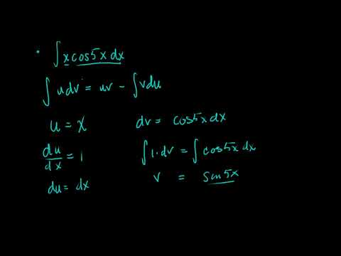 Calculus II/Calc BC Introduction by Parts Example 1