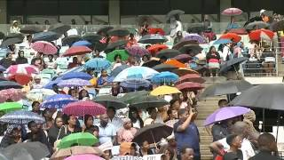 Menzi Ngubane speaks @ Sfiso Ncwane's Funeral Service (Durban Mabida Stadium)