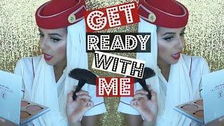 GRWM To Fly ! ✈ Emirates Cabin Crew | Yas & Nab