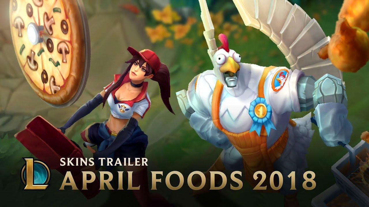 League Of Legends April Foods Skins Trailer System Requirements
