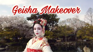 Geisha Makeover In Kyoto, Japan !