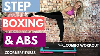 STEP aerobics, KICKBOXING and ABS Cardio interval Workout!