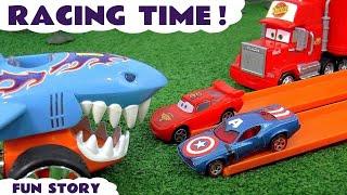 Disney Pixar Cars 3 McQueen Hot Wheels Race with Marvel Avengers 4 Endgame & DC Comics