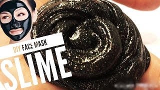 DIY (holographic) FACE MASK SLIME (SO EASY!) | NO GLUE