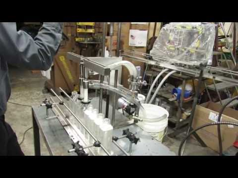Manual table top filler Bottle filler sold by Filling Equipment Co., Inc.