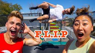 TEACHING CARTER & LIZZY SHARER HOW TO FLIP