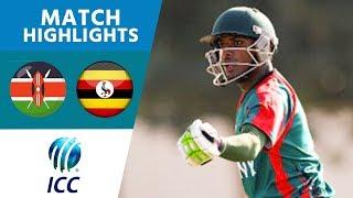 ICC Men's T20 World Cup Qualifier - Africa | Kenya v Uganda - Match Highlights