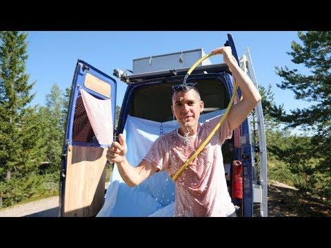 Solardusche aus Abwasserrohr selber bauen・Camping Aussendusche・ DIY