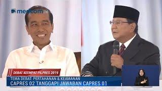 Kumpulan Skak Balik Jokowi ke Prabowo di Debat Keempat Pilpres 2019
