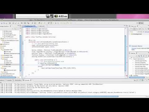 Android Application Development Tutorial - 27 - Set the Input Type of an EditText