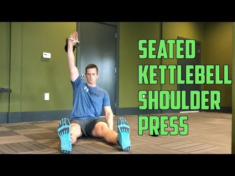 One Kettlebell Seated Shoulder Press (on Floor)