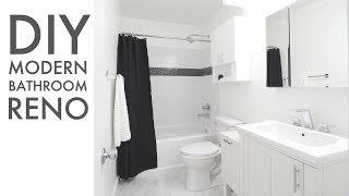 How To Remodel a Bathroom // DIY // Modern Builds
