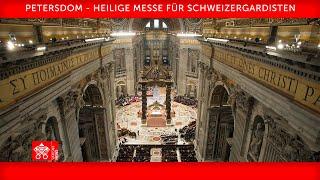 Heilige Messe für Schweizergardisten 06. Mai 2021