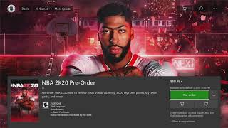 When is the last day to pre order 2k20