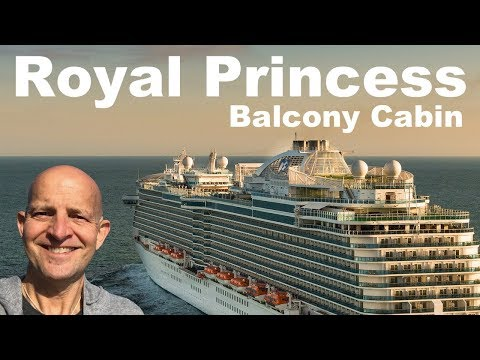 Princess Cruises Royal Princess Balcony Cabin Tour &  Review