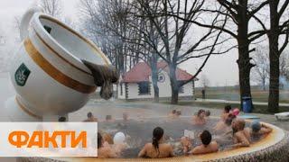 На Закарпатье открыли крупнейший в мире термальный фонтан-бассейн