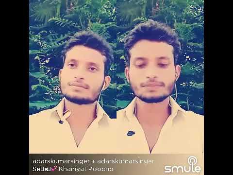 khairiyat || SSR || musical voice || adarshkumarsinger