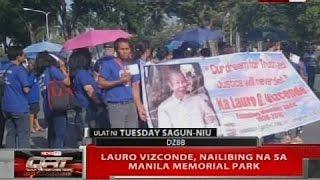 QRT: Lauro Vizconde, nailibing na sa Manila Memorial Park